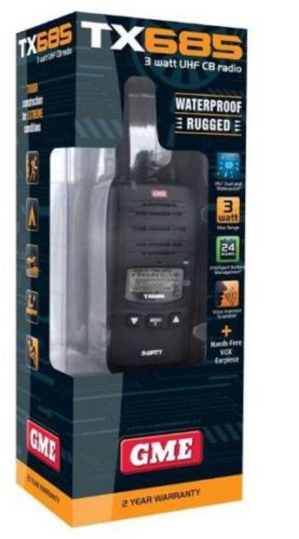 GME TX685 3 WATT HANDHELD UHF CB RADIO