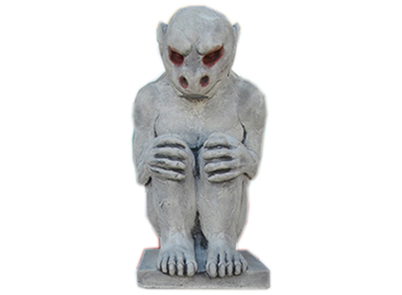 Small Gargoyle with Diamond Pedestal