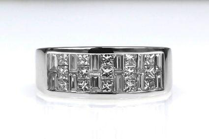 18ct W/G Invisible set diamond ring