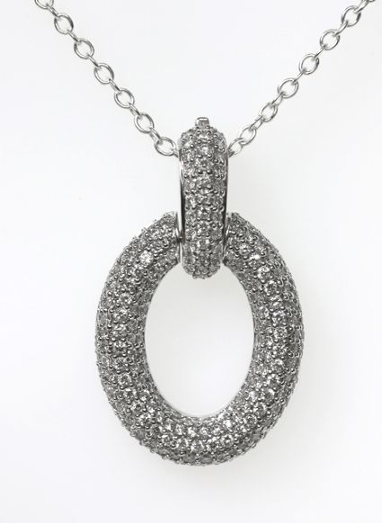 18ct W/G Pave' set diamond enhancer
