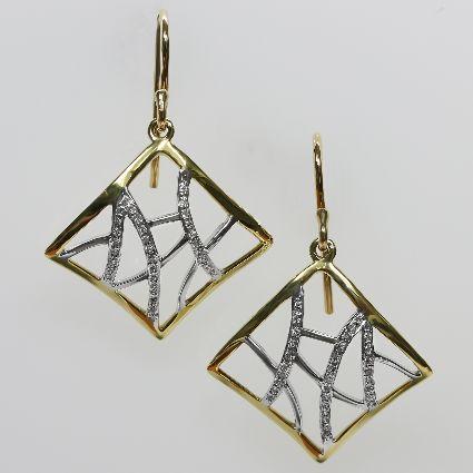 18ct Y/G Diamond set earrings