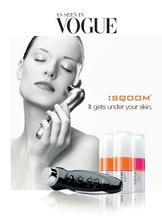Skin rejuvenating Sqoom device and gels