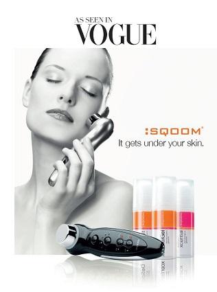 Skin rejuvenating Sqoom device and gels