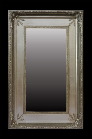 large Plain Gold Framed  Mirror 230cms H x 110cms W