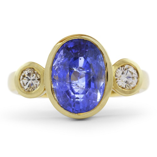 Natural Oval 5.35ct Ceylon Sapphire Ring