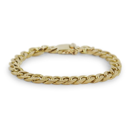 9ct Gold Men's Chain Bracelet