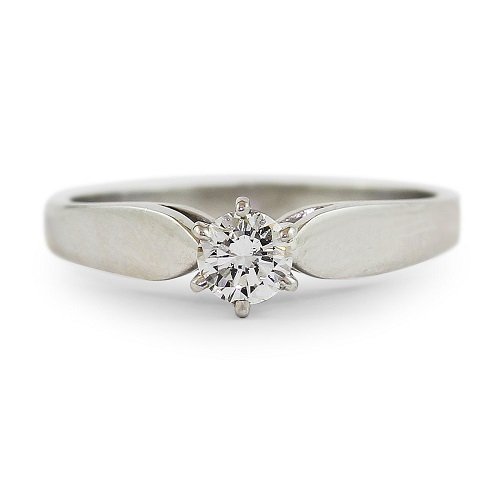 Brilliant White Solitaire Diamond Ring