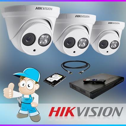 1x 4 Camera Hikvision CCTV System