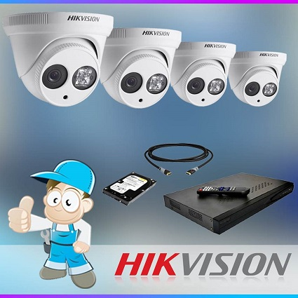 4 x 6MP Hikvision CCTV Pack