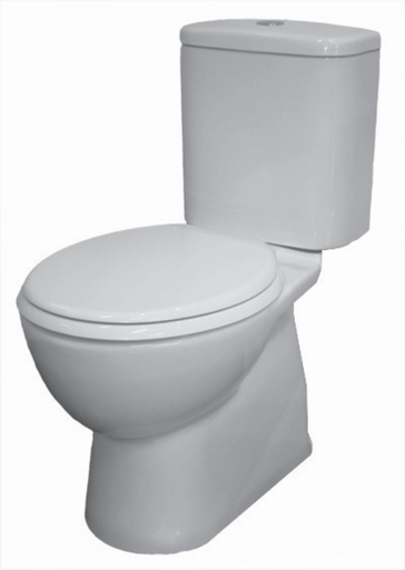 Close coupled full china toilet suite with soft close seat
