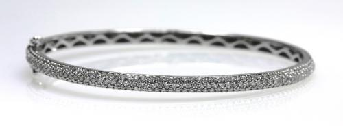 18ct W/G Pave set diamond bangle