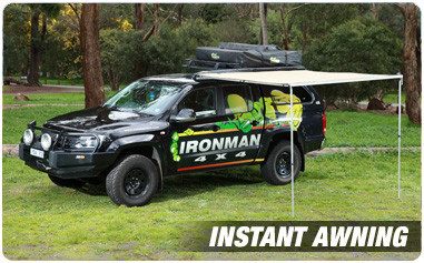 IRONMAN 4X4 AWNING 2.5M LONG x 2.5M OUT WITH LED LIGHT