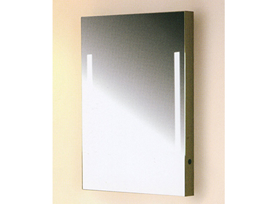 Mirror with fluro illumination & switch J500F-Brig