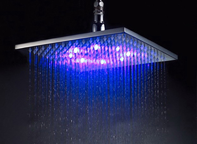 L.E.D. Overhead shower 200 mm