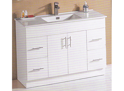 1200 mm vanity unit, slimline china top