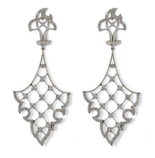 Vintage Diamond Drop 'Flame' Earrings