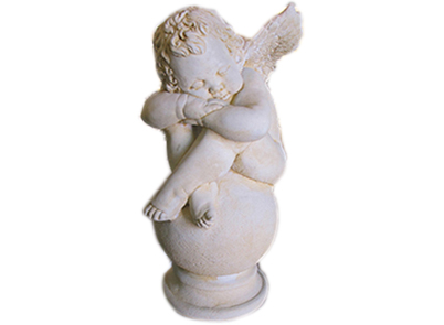 Cherub on Ball with diamond pedestal