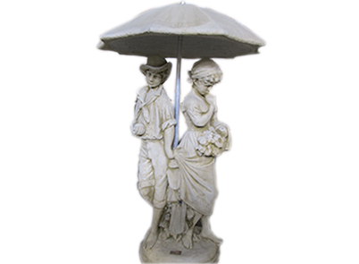 Springtime Statue with Umbrella