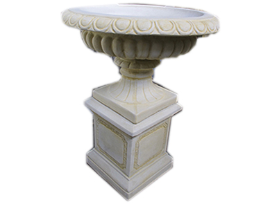 Valentino Urn with Lge Block Base