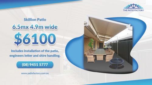 The Patio Factory Skillion Patio