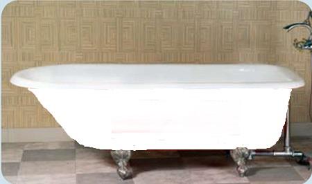 Traditional cast iron bath