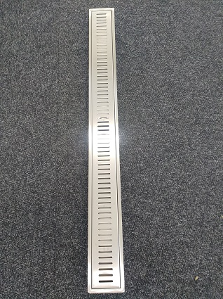 Shower channel grate,316 grade stainless steel, one metre length