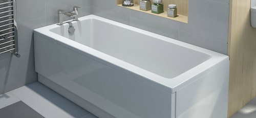 Acrylic baths with frame/sides.