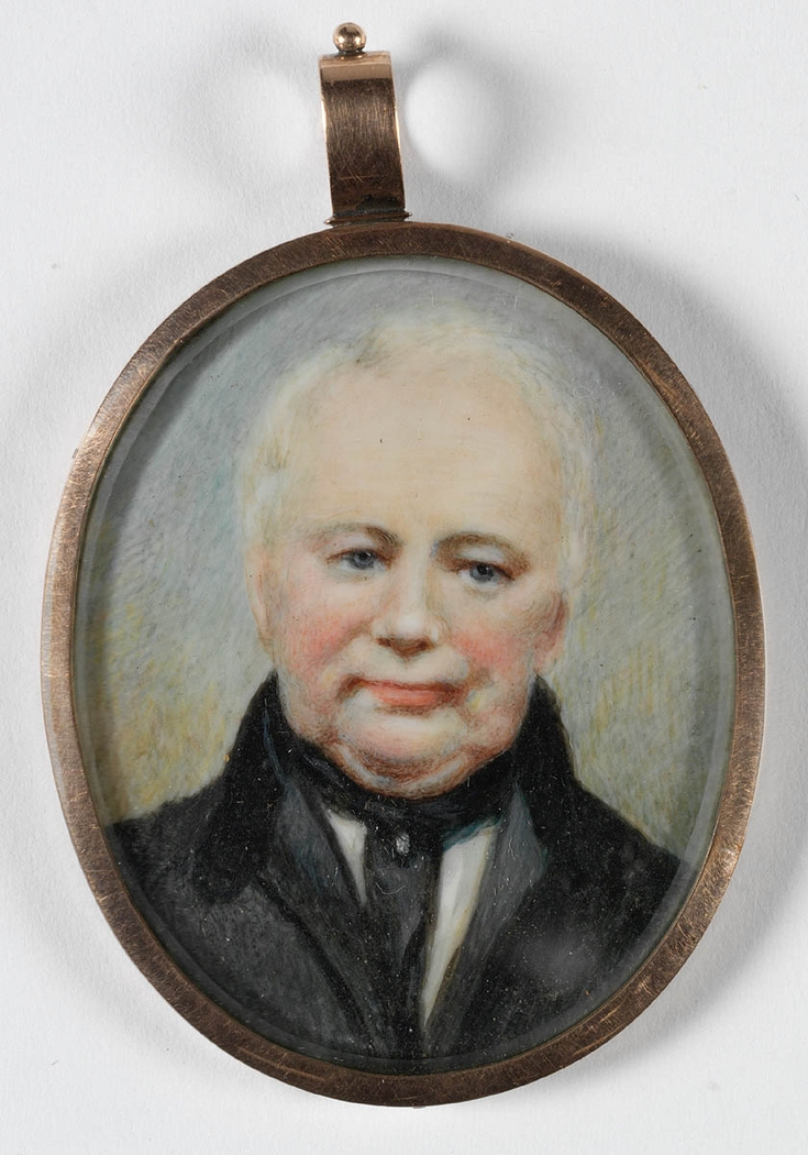 Watercolour miniature of a man who was known as William Lawson