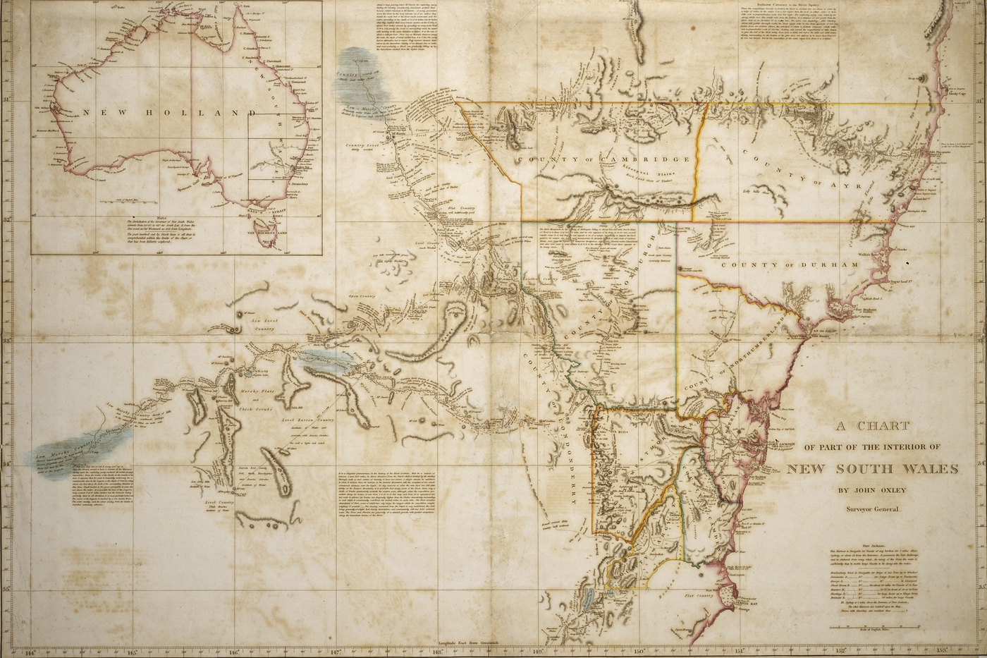Map Of Australia 1830.The Dixson Map Collection State Library Of Nsw