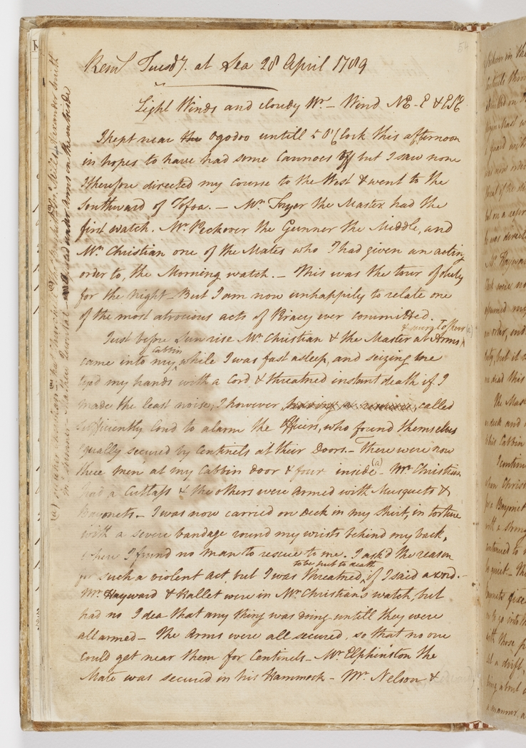 Log of the Proceedings of His Majesty's Ship Bounty