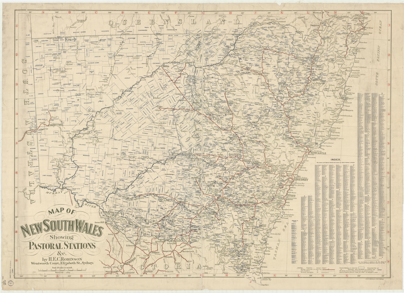map of new south wales showing pastoral stations c cartographic material by hec robinson