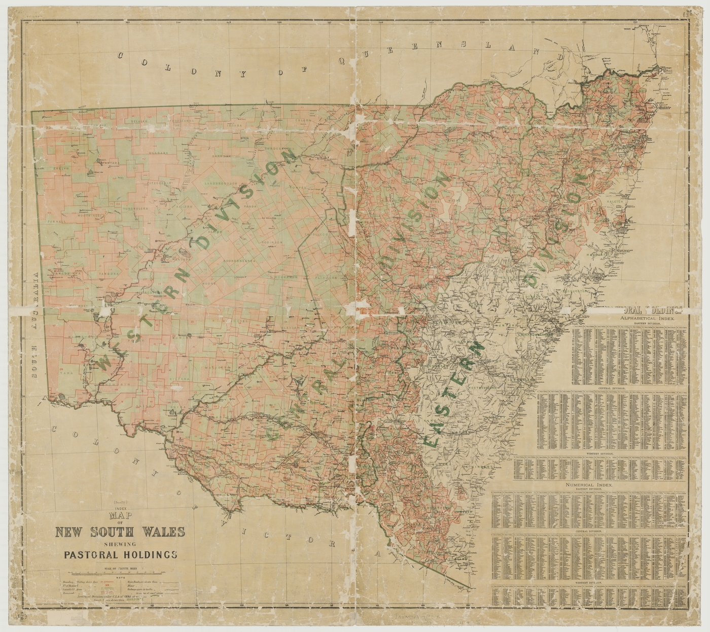 index map of new south wales shewing pastoral holdings cartographic material prepared by surveyor generals office