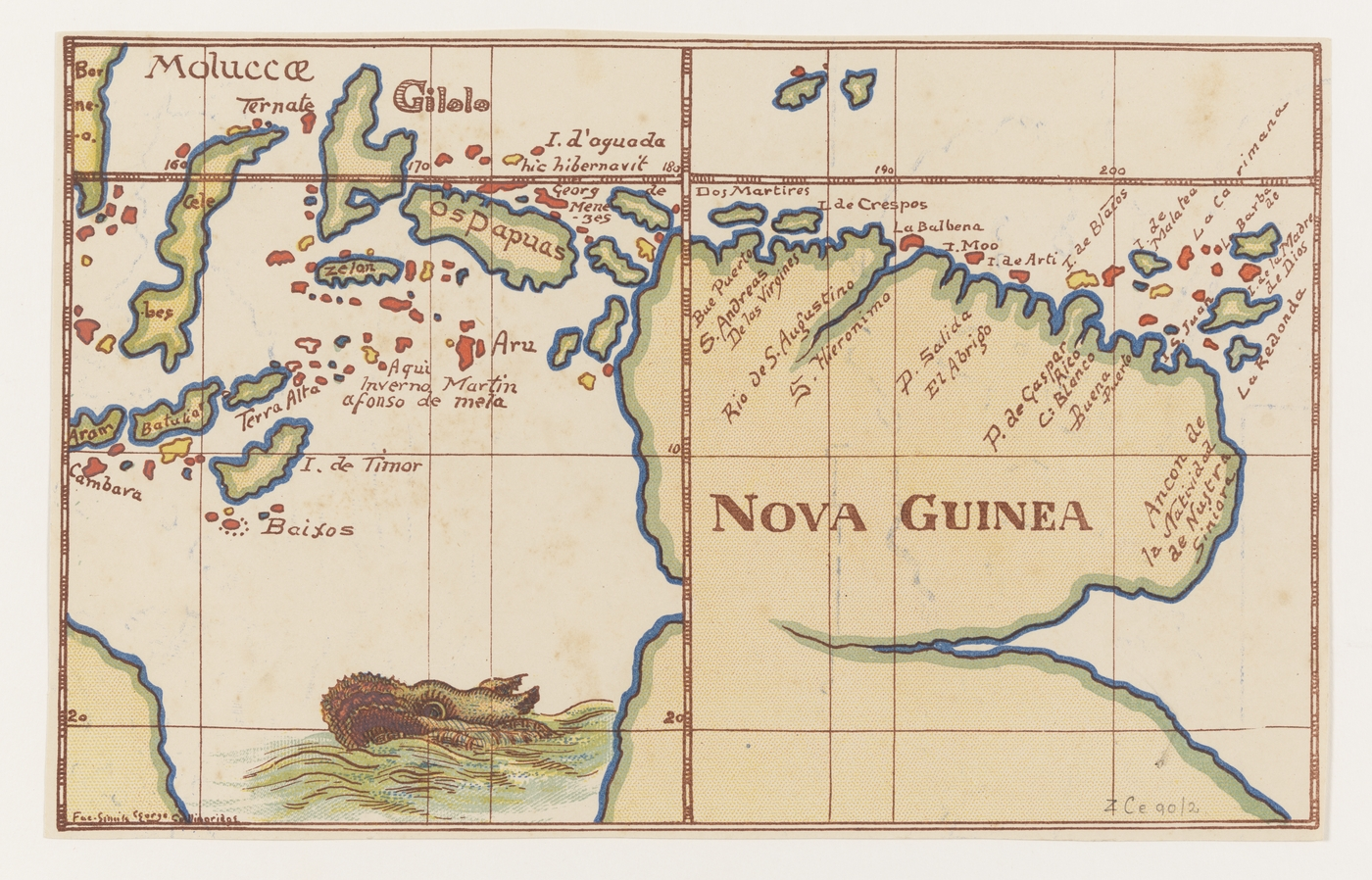 Nova Guinea [cartographic material] : [from a map of the world, 1600 ...