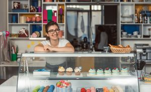 Exploring being my own boss - Entrepreneur standing at her bakery counter