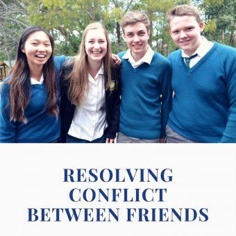 resolving conflict between friends