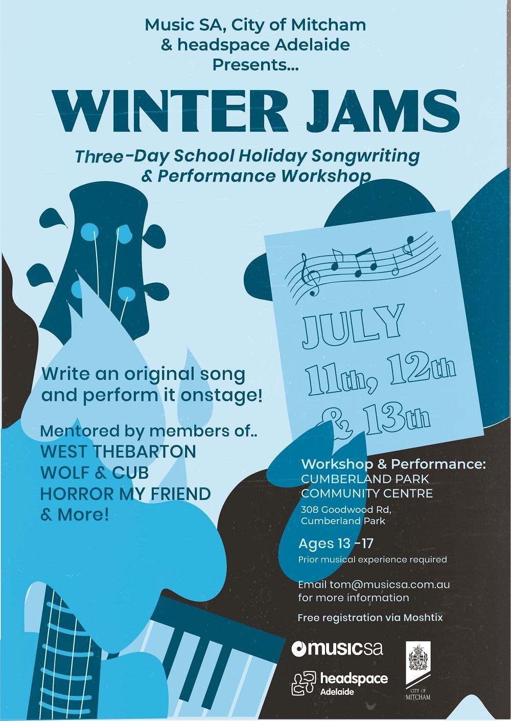 Buy Winter Jams – School Holiday Songwriting Workshop tickets, SA