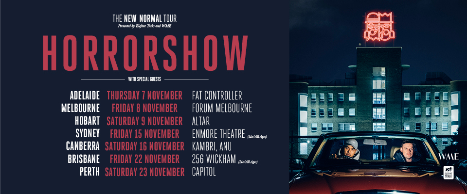 Buy Horrorshow New Normal Tour Tickets Qld 2019 Moshtix