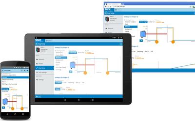 Sick SOPASair mobile sensor configuration app