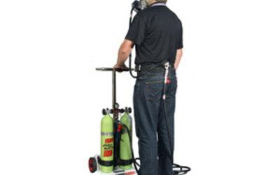 Safety Equipment Australia SpiroCART supplied air trolley