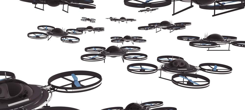 Deploying drones in field service