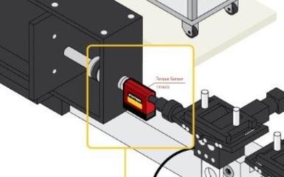 FUTEK LSB210 S-Beam load cell for interventional device testing
