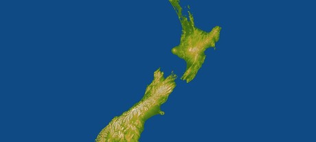 New zealand topography carousel