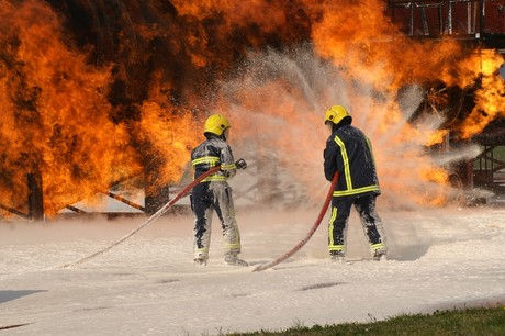 Firefighting foam runoff