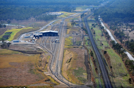 B47430 001 nebo rail maintenance facility aerial view 2blimp aerial photography
