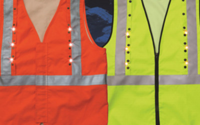 Roobuck Intrinsically Safe high-visibility FRAS LED safety vest