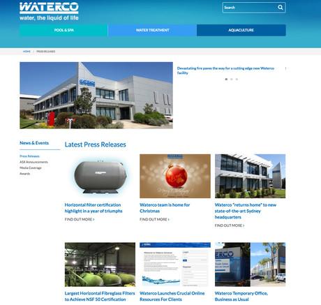 Waterco website press releases