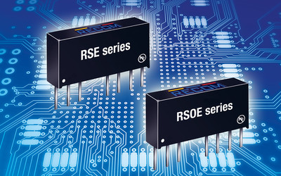 RECOM RSE and RSOE regulated SIP8 DC/DC converters