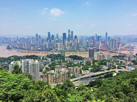 Chongqing city airbus