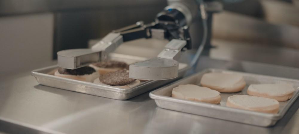 Robotic burger flipper for commercial kitchens