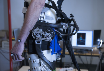 Fall prevention with a powered exoskeleton